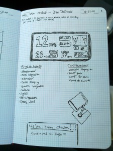 First design in notebook